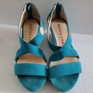 Sacha London Gina Suede Sandal Size 6.5